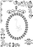 Decorative frame and corners .Graphic drawing. Decorative frame and corners on a white background. Graphic drawing Royalty Free Stock Images