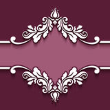 Decorative frame with cutout paper swirls Royalty Free Stock Photos