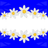 Decorative frame from flower Stock Images