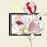 Decorative frame with flowers Royalty Free Stock Photography