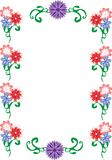 Decorative frame with flowers. Stock Images