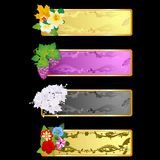 Decorative frame with flowers-1 Royalty Free Stock Image
