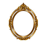 Decorative frame of golden color stock photography