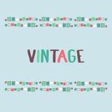Decorative frame grunge cubes. Vector illustration. Decorative frame grunge cubes vintage. Vector illustration Stock Photo