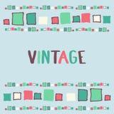 Decorative frame grunge cubes. Vector illustration. Decorative frame grunge cubes vintage. Vector illustration Royalty Free Stock Photos