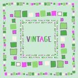 Decorative frame grunge cubes. Vector illustration. Decorative frame grunge cubes vintage. Vector illustration Stock Image