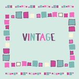Decorative frame grunge cubes. Vector illustration. Decorative frame grunge cubes vintage. Vector illustration Stock Photography