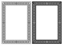Decorative Frame. JPG and EPS. Original decorative ornamental border frame. White background. EPS file available Stock Photo