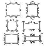 Decorative frame line vector set Stock Image