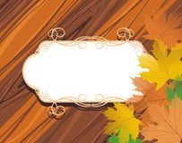 Decorative frame with maple leaves Stock Photography