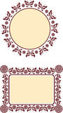 Decorative frame motif Royalty Free Stock Photo
