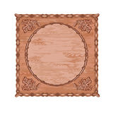 Decorative frame oak woodcarving hunting theme vector Stock Photo
