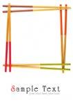 Decorative Frame Of Bamboo Chopsticks Stock Image