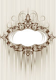 Decorative frame in an old style. Banner. Postcard Royalty Free Stock Photo
