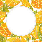 Decorative frame of oranges. Royalty Free Stock Photography