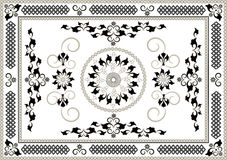 Decorative frame of oriental pattern.Graphic arts. Stock Photos