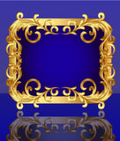 Decorative frame with pattern gold Royalty Free Stock Photography