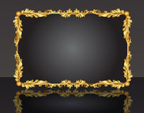 Decorative frame with pattern gold sheet Royalty Free Stock Photography
