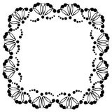 Decorative frame with patterns. Of black color Royalty Free Stock Photography