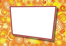 Decorative frame for photo Stock Images