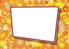 Decorative frame for photo. Decorative abstract frame, ornamental border, element for design, vector illustration Stock Images