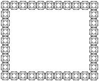Decorative frame of rectangular shape. geometric pattern of black color Stock Image