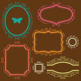 Decorative Frame Set Stock Photo