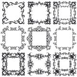 Decorative frame set I b&w Stock Images