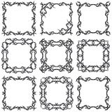 Decorative frame set II b&w Royalty Free Stock Photos