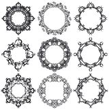 Decorative frame set IV b&w Royalty Free Stock Photography