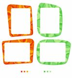 Vector colorful frames for photo or illustration. Decorative frame in shades of orange and green. Isolated vector on the white background - just place your stock illustration