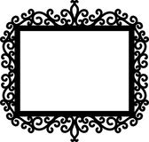 Decorative frame silhouette Royalty Free Stock Photo