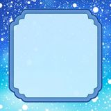 Decorative frame with snow 1 Stock Photography
