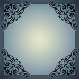 Decorative frame in the style of vintage Stock Image
