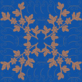 Decorative frame for table. Decorative pattern on the tablecloth royalty free illustration