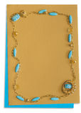 Decorative frame with turquoise Royalty Free Stock Image