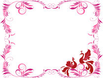 Decorative frame with two birds Royalty Free Stock Photos