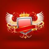 Decorative frame. Decorative frame vector illustration on red background Stock Photography