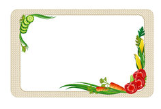 Decorative frame with vegetables Royalty Free Stock Image