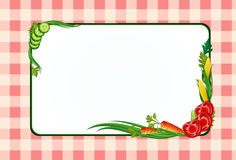 Decorative frame with vegetables Stock Photo
