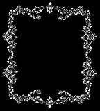 Decorative frame of white color Royalty Free Stock Photos