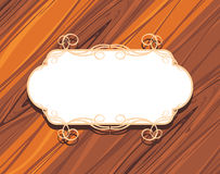 Decorative frame on the wooden background stock image