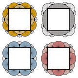 Decorative frames. Set of 4 decorative line art frames or banners Royalty Free Stock Photo
