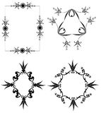 Decorative frames. Black isolated on white Royalty Free Stock Photography