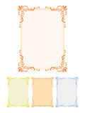 Decorative frames. Vector isolated on white Royalty Free Stock Images