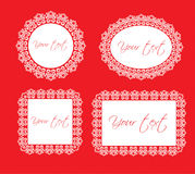 Decorative frames. Four vector decorative frames Stock Photos