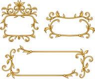 Decorative frames. Set of decorative golden frames Stock Image