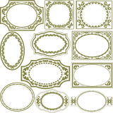 Decorative frames. Silhouette decorative frames and borders Stock Photos