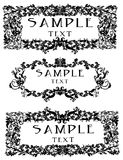 Decorative frames or borders royalty free stock photo