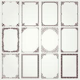 Decorative frames and borders A4 proportions set #4 Royalty Free Stock Images